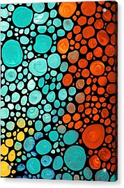 Mosaic Art - Abstract 3 - By Sharon Cummings Acrylic Print by Sharon Cummings
