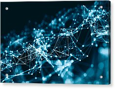 Abstract 3d Network In Future Acrylic Print by From2015
