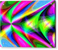 Abstract 45 Acrylic Print by Kenny Francis