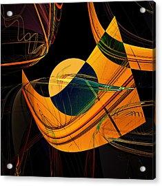 Abstract 45 Acrylic Print by Ricardo Szekely