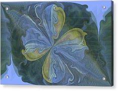 Abstract A023 Acrylic Print by Maria Urso