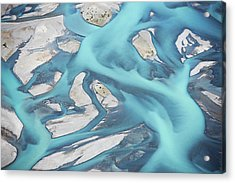 Abstract Aerial View Of River Bed Acrylic Print by Laurenepbath