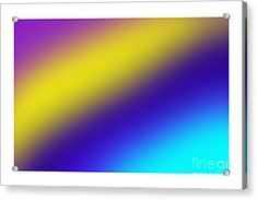 Abstract And Polychromatic Composition  Acrylic Print by Enrique Cardenas-elorduy