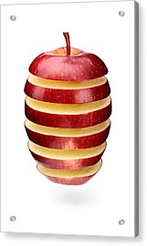 Abstract Apple Slices Acrylic Print by Johan Swanepoel