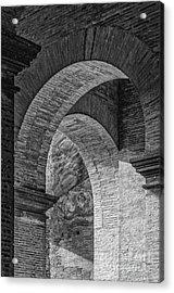 Abstract Arches Colosseum Mono Acrylic Print by Antony McAulay