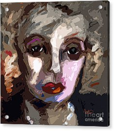 Abstract Art Bette Davis Eyes  Acrylic Print by Ginette Callaway