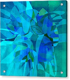 abstract - art- Blue for You Acrylic Print by Ann Powell