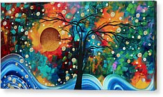 Abstract Art Bold Colorful Landscape Painting Halo Of Fire By Madart Acrylic Print