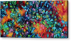 Abstract Art Bold Colorful Modern Art Original Painting Color Blast By Madart Acrylic Print by Megan Duncanson