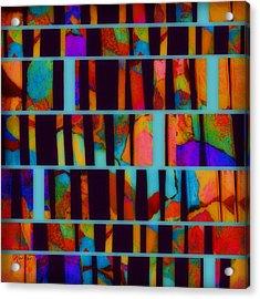 abstract - art- Color Pop  Acrylic Print by Ann Powell