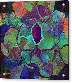 Abstract Art Colorful Collage Acrylic Print by Ann Powell