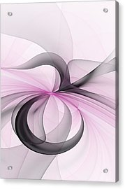Abstract Art Fractal With Pink Acrylic Print