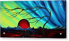Abstract Art Landscape Seascape Bold Colorful Artwork Serenity By Madart Acrylic Print by Megan Duncanson