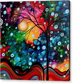 Abstract Art Landscape Tree Painting Brilliance In The Sky Madart Acrylic Print by Megan Duncanson