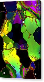Abstract Art Of Greenish Composition In Digital Art Acrylic Print by Mario Perez