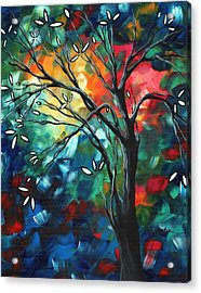 Abstract Art Original Colorful Painting Spring Blossoms By Madart Acrylic Print