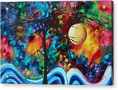 Abstract Art Original Enormous Bold Painting Essence Of The Earth I By Madart Acrylic Print by Megan Duncanson