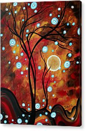 Abstract Art Original Landscape Circle Painting Fairy Dust By Madart Acrylic Print by Megan Duncanson