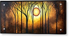 Abstract Art Original Landscape Golden Halo By Madart Acrylic Print by Megan Duncanson