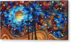 Abstract Art Original Landscape Painting Bold Circle Of Life Design Show Me The Way By Madart Acrylic Print