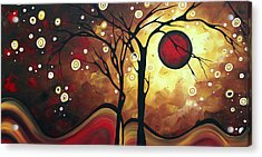 Abstract Art Original Landscape Painting Catch The Rising Sun By Madart Acrylic Print by Megan Duncanson