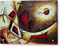 Abstract Art Original Landscape Painting Cosmic Destiny By Madart Acrylic Print