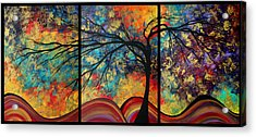 Abstract Art Original Landscape Painting Go Forth By Madart Acrylic Print by Megan Duncanson