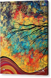 Abstract Art Original Landscape Painting Go Forth I By Madart Studios Acrylic Print by Megan Duncanson