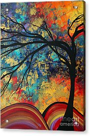Abstract Art Original Landscape Painting Go Forth II By Madart Studios Acrylic Print by Megan Duncanson