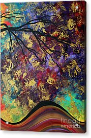 Abstract Art Original Landscape Painting Go Forth IIi By Madart Studios Acrylic Print by Megan Duncanson