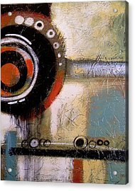Abstract Art Print ... The World Goes Round 2 Acrylic Print by Amy Giacomelli