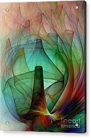 Abstract Art Print Witches Kitchen Acrylic Print by Karin Kuhlmann