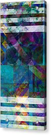 abstract - art - Stripes Five  Acrylic Print by Ann Powell