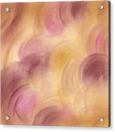 Abstract Artwork Rose Yellow Fuchsia Acrylic Print by Beverly Brown