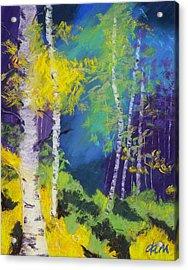 Abstract Aspens Acrylic Print by Dana Strotheide