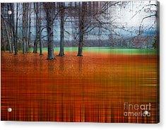 abstract atumn II Acrylic Print by Hannes Cmarits