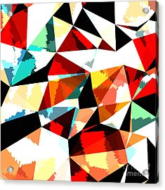 Abstract Background With Triangles And Acrylic Print