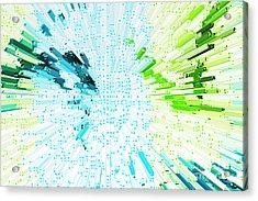 Abstract - Be Happy Acrylic Print by Natalie Kinnear
