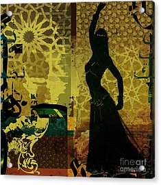 Abstract Belly Dancer 11 Acrylic Print by Mahnoor Shah