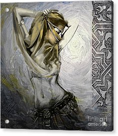 Abstract Belly Dancer 12 Acrylic Print by Mahnoor Shah