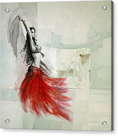 Abstract Belly Dancer 18 Acrylic Print by Mahnoor Shah