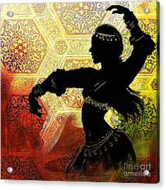 Abstract Belly Dancer 3 Acrylic Print by Mahnoor Shah
