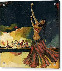 Abstract Belly Dancer 5 Acrylic Print