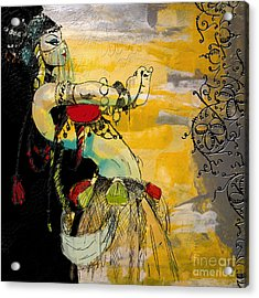 Abstract Belly Dancer 6 Acrylic Print by Mahnoor Shah