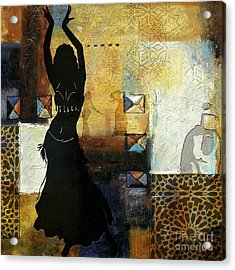 Abstract Belly Dancer 7 Acrylic Print by Mahnoor Shah