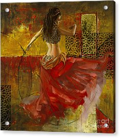 Abstract Belly Dancer 9 Acrylic Print by Mahnoor Shah