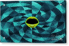 Abstract Blue And Black Acrylic Print by Gaia Ragu
