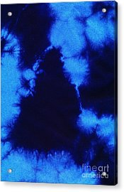 Abstract Blue Batik Pattern Acrylic Print by Kerstin Ivarsson