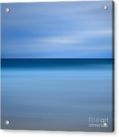 Abstract Blue Beach Acrylic Print by Katherine Gendreau