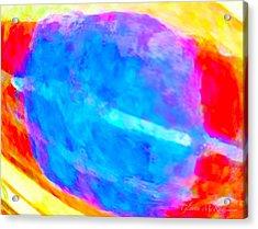 Abstract Blue Dwarf Acrylic Print by Glenna McRae